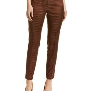 Ecru Ankle Pants Rust Brown Size 4 Flat Front